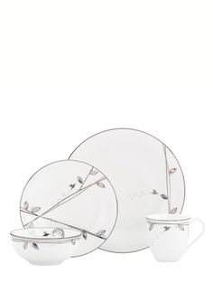 LENOX 4-Piece Silver Song Place Setting