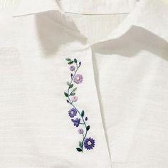 Роскошные вещи своими руками - это реальность сэкономить Hand Embroidery Flowers, Embroidery On Clothes, Embroidery Hearts, Embroidery Bags, Shirt Embroidery, Embroidered Clothes, Embroidery Fashion, Hand Embroidery Designs, Embroidery Stitches