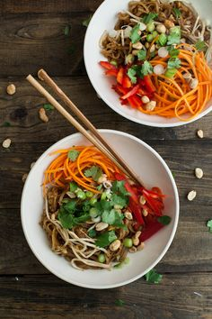 "Pad Thai (with homemade ""fish"" sauce) 