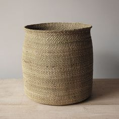 These beautifully handcrafted Tanzanian baskets are woven from milulu grass. As they age, their colour changes form a greenish hue to beige. If needed they can be reshaped with a slight vaporizing. Av