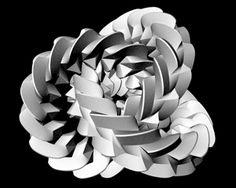 Moving sculpture: Triple Gear. In this unusual mechanism three gears mesh together in pairs, and yet they can turn. Segerman designed these sculptures using scripting and then producing them using 3D printing. The technology allows him to get very close to mathematically precise geometry, which is often difficult to achieve by other means. University of Melbourne mathematician Dr Henry Segerman. 3ders.org.