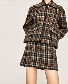 Image 2 of CHECKED MINI SKIRT from Zara