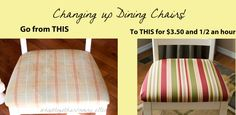 How to re-upholster your dining room chairs