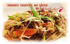 Chaud, chaud! Un sauté de nouilles au boeuf! Japchae, Ethnic Recipes, Food, Chicken, Carrots, Asian Noodles, Chinese Food, Healthy, Essen