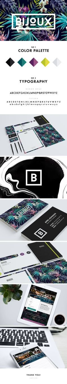 Branding, identity system, and responsive homepage designed for a fictional boutique hotel. Really fell in love with this tropical pattern and wanted to do something fresh & modern with it.
