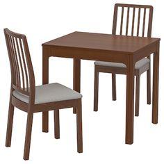 Ekedalen / Ekedalen Table And 2 Chairs - Ikea Ikea Dining Sets, Ikea Dining Table, Small Dining, Round Dining Table, Dining Room Chairs, Dining Furniture, Table And Chairs, Table Legs, Kitchen Tables