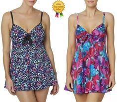 3db7cc2c860 A SHORE FIT Womens Swim Dress Floral Multi size 8 10 NEW  ASHOREFIT   OnePiece