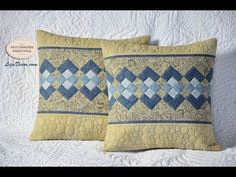 Patchwork tutorial Seminole - Rychlé šití z pruhů - Ubrus / prostírání / polštář. - YouTube