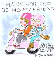 Thank you for being my friend - by Blond-Amsterdam