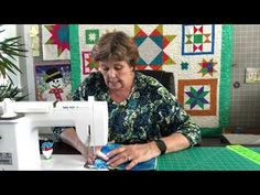 Jenny Doan is my all time quilting hero, I simply call her the Kansas Metropolis Star, after her popular star quilt pattern for her Missouri Quilt Ent. Missouri Quilt Tutorials, Quilting Tutorials, Sewing Tutorials, Kansas, Easy Face Masks, Diy Face Mask, Films Youtube, Star Quilt Patterns, Missouri Star Quilt