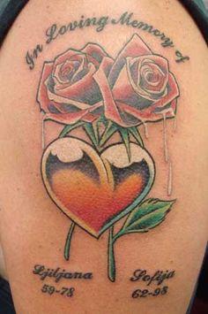 36 Best Rose Heart Tattoos For Women Images Heart Tattoos Rose