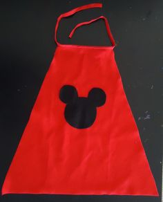 Mickey cape by two parts sugar, via Flickr- Whole Mickey/Minnie Party
