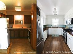 paint your dated wood paneling/cabinets for an updated looklot