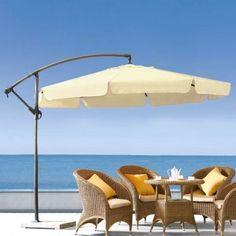 Beige cantilever market umbrella 3.0m - $99