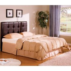 Coaster Furniture 300357Q Lewis Queen Upholstered Headboard in Brown with Button Tufting