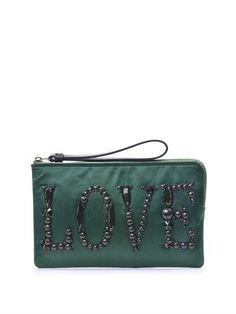 Love beaded satin clutch | Lanvin | MATCHESFASHION.COM