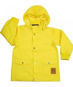 Yellow water resistant Pico jacket by Mini Rodini