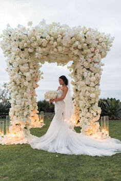Erika and Ronnel's modern wedding at the Ritz-Carlton Laguna Niguel was chock-full of luxury details. From the abundance of fresh florals on the arch. Modern Wedding Theme, Space Wedding, White Wedding Flowers, Floral Wedding, Glamorous Wedding, Luxury Wedding, Winter Wedding Arch, Traditional Wedding Decor, Wedding Venue Inspiration