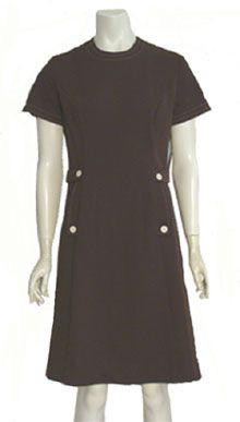 Dixie Deb Brown Mod 60s Dress
