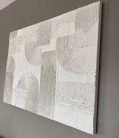 Textured Canvas Art, Diy Canvas Art, Diy Wall Art, Diy Art, Plaster Art, Texture Art, My New Room, Abstract Wall Art, Oeuvre D'art