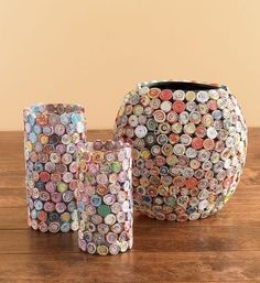 paper covered vases