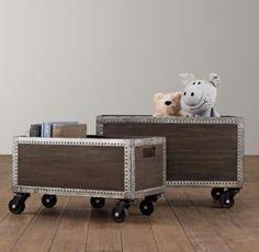 Industrial Rolling Storage Crate | Storage & Organization | Restoration Hardware Baby & Child