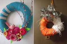 This user should have used better materials when making the Halloween wreath. #pinterestfail