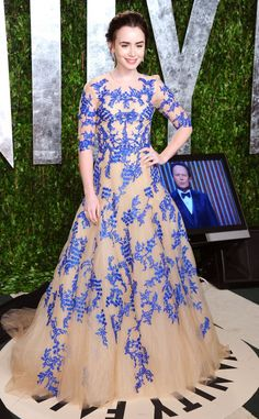 Lily Collins...absolutely love this dresss!!! WANT.