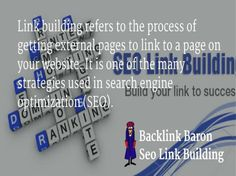 Get High Rank! Build Traffic! Backlink Baron is offering High quality SEO link building Services; Linkbuilding Service to boost up Your Ranking. We are expert in SEO Linkbuilding. Get natural one way...
