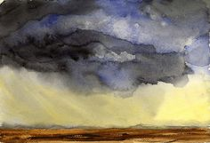 Prairie Sky Watercolor | 7 x 10 inches on Winsor & Newton pa… | Flickr
