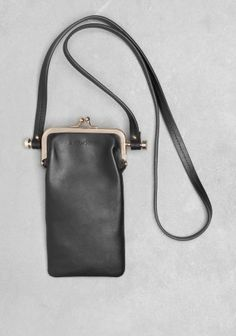 And Other Stories | Leather Pouch Metal Bar | Black