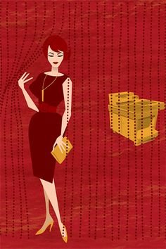 Illustration - Joan and the Xerox #MadMen