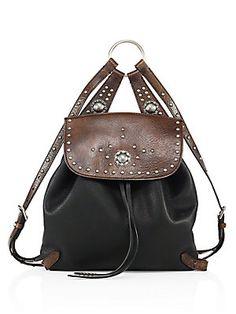 d146e87ba47 Ralph Lauren Collection - Studded Leather Backpack. Sac À ...