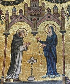The apparition of Our Lady of the Rosary is by tradition attributed to Saint Dominic in 1208 in the church of Prouille, in France. According to the attribution, the Virgin Mary appeared to Saint Dominic and introduced him to the rosary. For centuries, Dominicans became instrumental in spreading the practice of praying the rosary. Today's feast was introduced By St Pius V, who was also a Dominican, in gratitude for the victory of Christian fleets