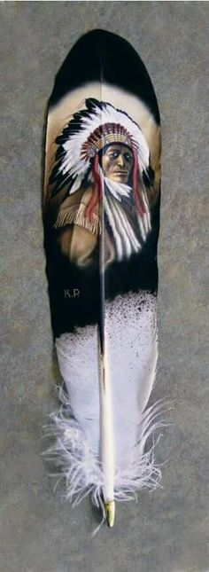 Maybe not pure Native American, but a nice handpainted hawk feather. Native American Artwork, American Indian Art, Native American Indians, Feather Painting, Feather Art, Watercolour Painting, Native Indian, Native Art, Indian Feather Tattoos