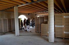 Winetour at Fratelli Vogadori: the raising room for the Amarone grapes.  www.amaroneValpolicella.org