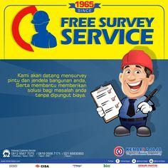 Hubungi Kami Segera Untuk Mendapatkan Layanan Survey Secara GRATIS Guna Membantu Memberikan Solusi Untuk Masalah Pintu dan Jendela Anda.  Informasi Hub. : Ibu Tika 0812 8567 7070 ( WA / Telpon / SMS ) 0819 0506 7171 ( Telpon / SMS )  Email : digitalmarketing@kenaridjaja.co.id  [ K E N A R I D J A J A ] PELOPOR PERLENGKAPAN PINTU DAN JENDELA SEJAK TAHUN 1965