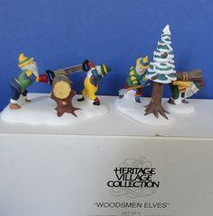 Dept 56 Woodsmen Elves Retired North Pole by ShoppingJustForYou