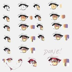 20 Ideas eye reference tutorial for 2019 Eye Drawing Tutorials, Digital Painting Tutorials, Digital Art Tutorial, Drawing Techniques, Drawing Tips, Art Tutorials, Drawing Sketches, Manga Eyes, Anime Eyes