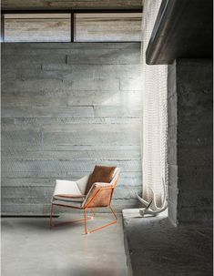 Raw concrete in Home on the Range, Jackson Hole, Wyoming, USA by Architects Pearson Design Group.
