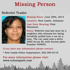 Where Are You Now, Missing Persons, Looking For Someone, True Crime, Delaware, Newcastle, Flyers, Mysterious, Mystery