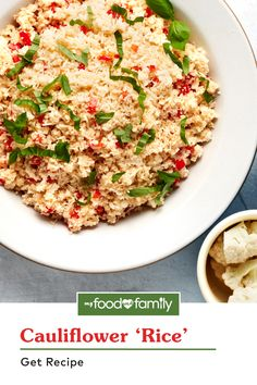 Calling all low-carb rice lovers: we have the 15 minute, quick and easy Cauliflower 'Rice' Recipe you need! This substitute for standard white rice and other grains is spiced up with flavor from KRAFT Italian Roasted Red Pepper dressing, chopped red pepper, garlic, shredded parmesan cheese, and chopped basil leaves. Pair it with your favorite chicken, fish, beef, or veggie entrée!