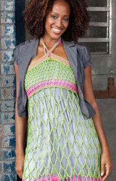 Dress/skirt. Looks easy to crochet and should work up very quickly. I WANT TO MAKE THIS!!!! :-)