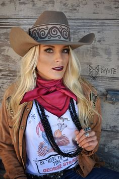 The perfect tee for a fun night out. We love to two-step, and sing George Strait around TCC. Cowboy Outfits For Women, Cowgirl Outfits, Equestrian Outfits, Western Outfits, Western Dresses, Cowgirl Mode, Estilo Cowgirl, Cowgirl Tuff, Cowgirl Style