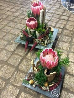 Latest Pic Exotic Flowers composition Ideas Area blossoms plus plants and flowers could be a wonderful accessory for any office or maybe family table, no Exotic Flowers, Tropical Flowers, Beautiful Flowers, Protea Flower, Flower Pots, Flower Decorations, Christmas Decorations, Flower Arrangements Simple, Christmas Arrangements