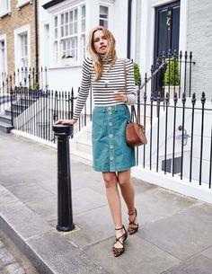 Button Through Mini Skirt