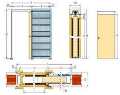 Porta de correr embutida drywall Door Design, House Design, Plan Sketch, Casas Containers, Door Detail, Plan Drawing, Layout, Windows And Doors, Architecture Details