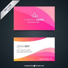 business-card-with-pink-waves_23-2147517581.jpg (626×626)