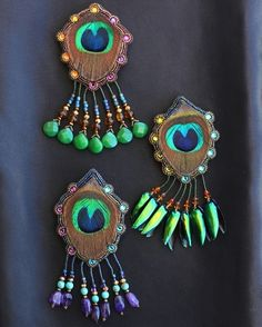 Peacock Hair Adornments