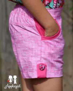 Little Honeybuns. Girls Flat Front Shorts pdf sewing pattern.  http://www.patternemporium.com/product/little-honeybuns-girls-shorts   Little Honeybuns Girls Shorts. Made by @applegailclothing #PEhoneybuns #patternemporium #kidsshorts